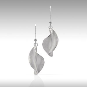 Twist drop earrings by Rauni Higson