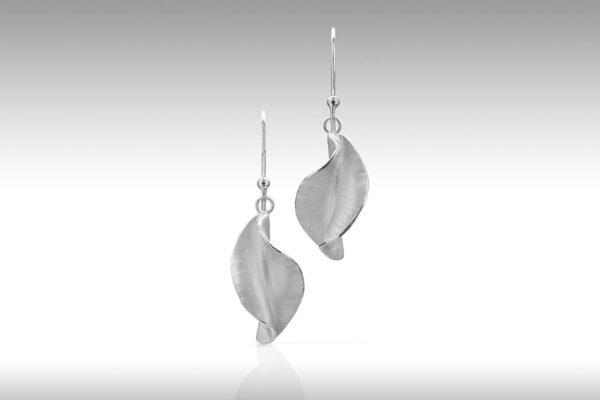 Twist drop earrings by Rauni Higson